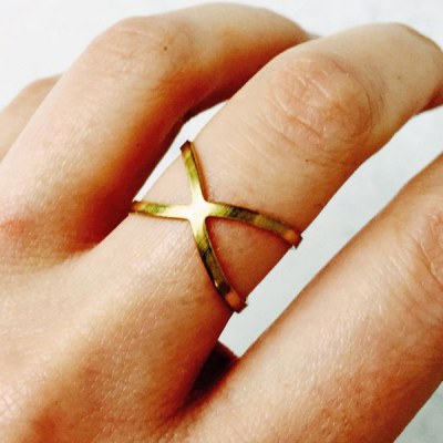 Eclectic eccentricity Infini brass ring in the group Women / Jewelry at Sivletto - Skylark AB (ee9)