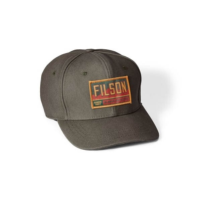 Filson Canvas Logger Cap Otter Green in the group Men / Headwear / Trucker/baseball caps at Sivletto (filson-20020935-otter)