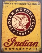Indian Motorcycles Tin Sign
