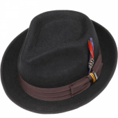 Stetson Player Woolfelt Hat Black