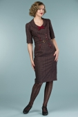 Emmy Design The Boss Lady Dress Wine/Plum Plaid
