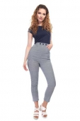 Collectif Talis striped cigarette trousers