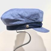 8d6266159fe2e Stetson Riders Cap Linen Light Blue