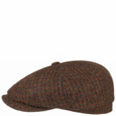 Stetson Hatteras Cap Harris Tweed Red