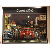 David Mann Sunset Blvd. poster print