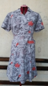 Vintage 50s Grey Day Dress