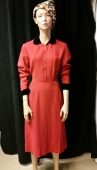 Lovely Vtg 40s Red Henry Rosenfeldt Dress size medium
