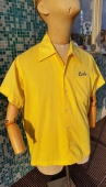 Men's Vintage Yellow Bowling Shirt Hiwanis Club Brecksville