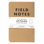 Field Notes Original Kraft 3-pack - Left-Handed