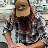 Filson Logger Mesh Cap Shield Dark Tan