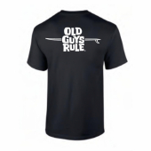 Old Guys Rule LB Logo Navy Tee