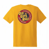 Old Guys Rule Cracker Gold Tee