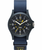 Timex Acadia 40mm Military Grosgrain Strap Watch Blue