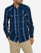 Wrangler LS Western Shirt Blue Depths