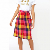 Emily and Fin Zoe skirt sunset plaid