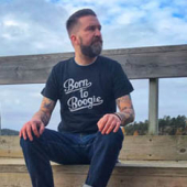 Bandit brand Born to Boogie Mens Tee