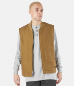 Dickies Sherpa Lined Brown Duck Vest Relaxed