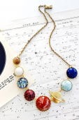 Eclectic eccentricity Perfect alignment solar system necklace