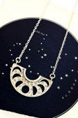 Eclectic eccentricity Roam silver necklace