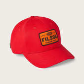 Filson Denim Logger Cap Scarlet Red