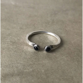 MoonPi Gemini Onyx Ring