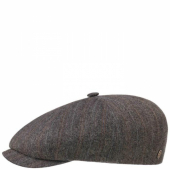 Stetson 8-panel Cap Linen/Wool Stripes