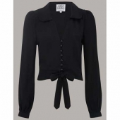 The Seamstress of Bloomsbury Clarice blouse black