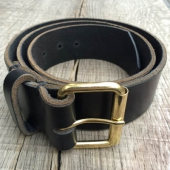 Blue Highway Black Leather Belt 0,5