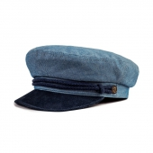 Brixton Fiddler Cap Washed Denim / Navy