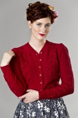 Emmy Design The Susie Q Cardigan Red