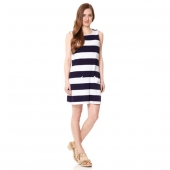 Fever South Beach Striped Ponte Shift Dress