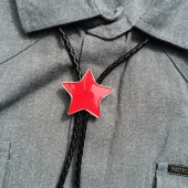 The Good Swede Bolo Tie Red Star