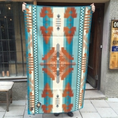 Pendleton Saddle Blanket Aqua