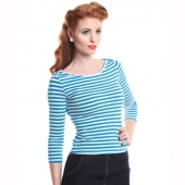 Collectif clothing Martina boat neck top