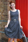 Collectif clothing Maria navy dress
