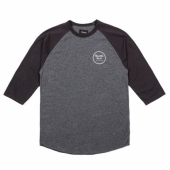 Brixton wheeler 3/4 sleeve tee charcoal/ heather black