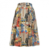 Emily and Fin Florence skirt painted city circus