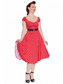 Collectif clothing Dolores doll dress red polka