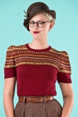 Emmy design The Fair Isle sweater wine