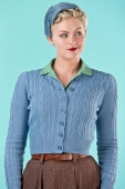 Emmy design the ice skater cardigan dusty blue