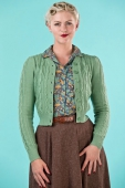 Emmy design the ice skater cardigan leaf green