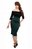 Collectif clothing Fiona polka dot skirt