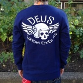 Deus Flying Skull Crew Navy