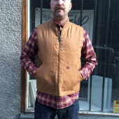 Dickies Dellwood brown duck vest