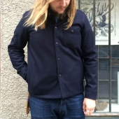 Sarva Wool Shirt Made In Sweden Navy