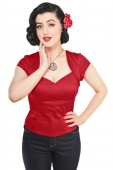 Collectif Clothing Regina red top