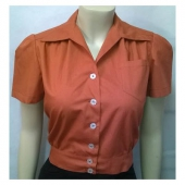 Freddies Of Pinewood Work Blouse Rust