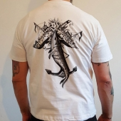 Anchor of the Seven Seas Whale White Tee