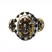 SWS Tooled Indian Skull Ring