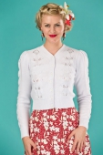 Emmy design Susie Q cardigan bright white